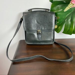 Vintage Brahmin black leather crossbody bag